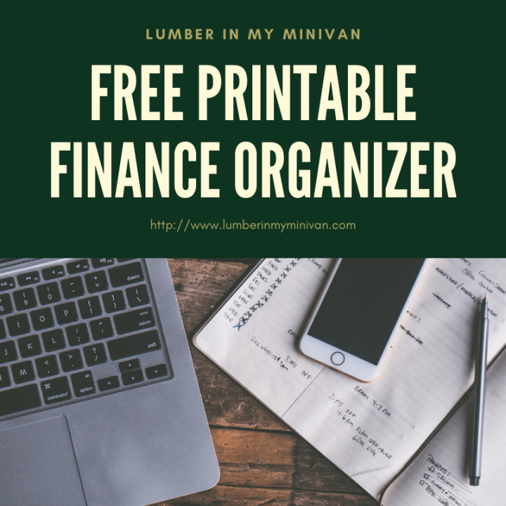 free printable finance organizer