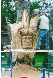 Carving an Indian Head
