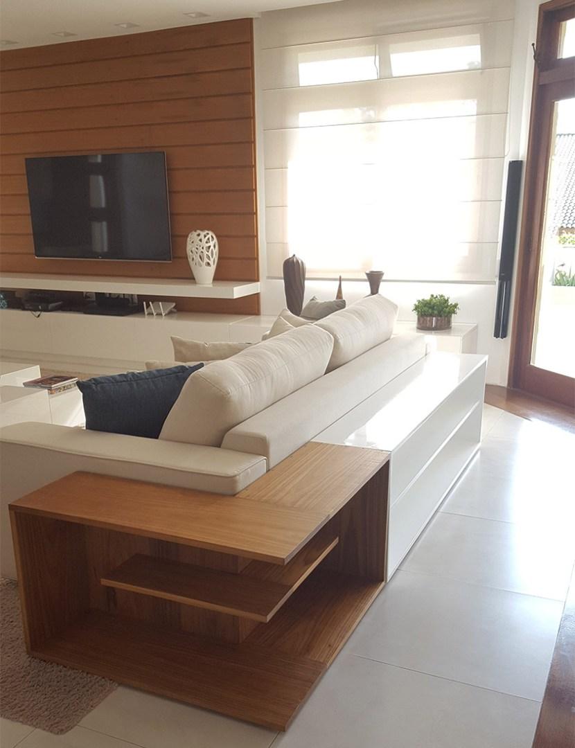 Artesanato De Madeira Para Parede ~ Aparador em L sofá em laca e freijó Lumberjills