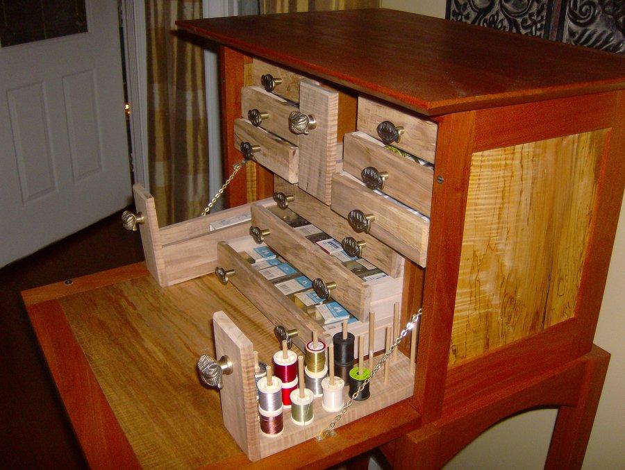 woodworking plans flytying desk
