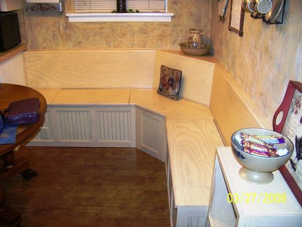 Plans Corner Bench Seat PDF Woodworking