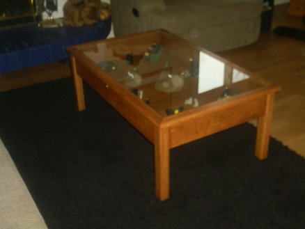 glass top display coffee table plans