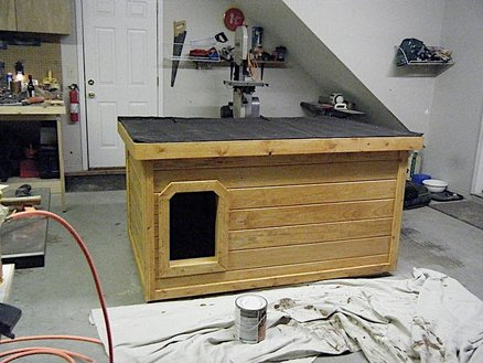 Insulated Dog House   by Mijohnst   LumberJocks com   woodworking     Insulated Dog House