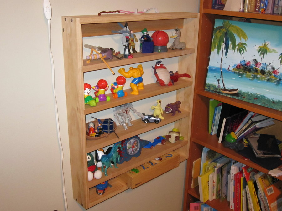 vintage nick nack shelves