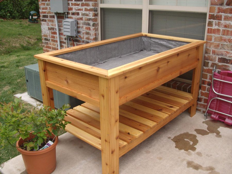 Lumber Raised Vegetable Garden