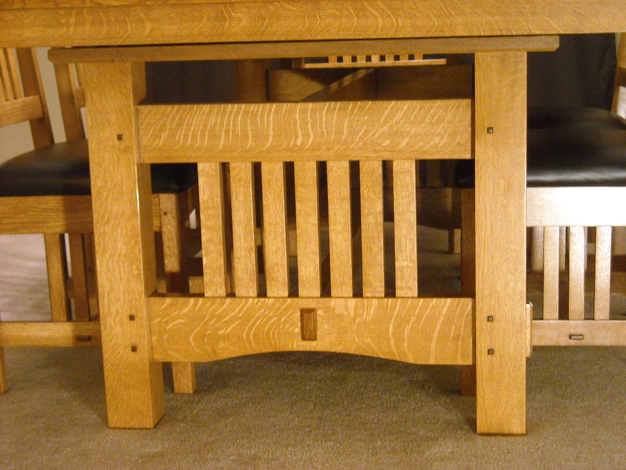 Craftsman Dining Table Plans PDF Woodworking