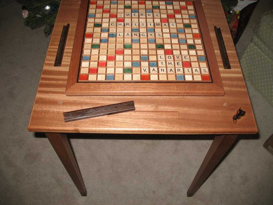 Scrabble Table And Board By Atogrf1