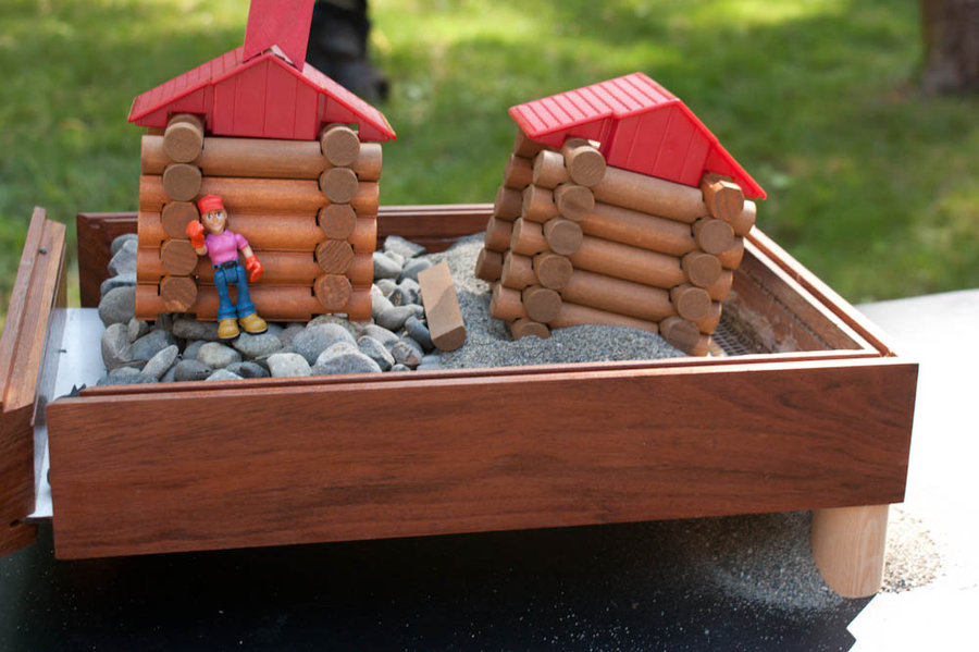 Rock Man Built House His Wise Upon