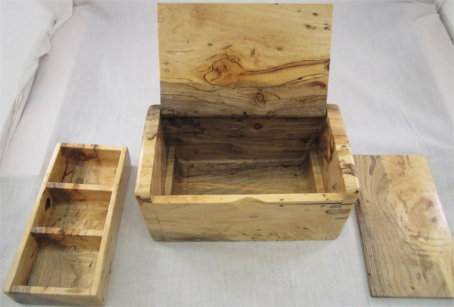 My First Hidden Hinge Bandsaw Box False Bottom With A