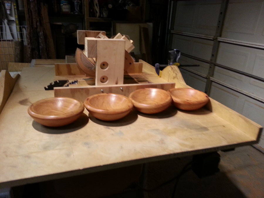 Table Saw Turning Four Cherry Bowls By Izzy Swan