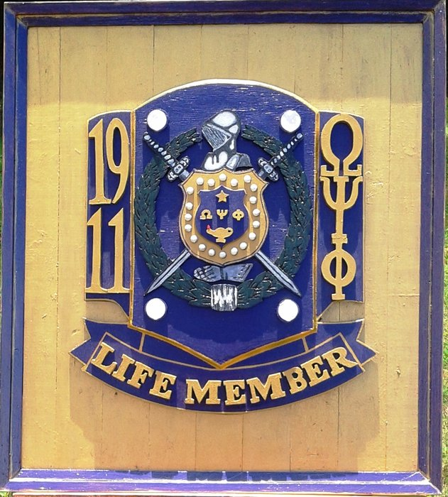 Omega Psi Phi Fraternity Life Member Plaque By Jerome