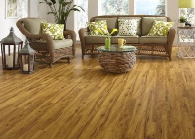 10mm pad Lake Tota Teak Laminate   Dream Home   Nirvana PLUS     10029897 Room Scene