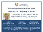 Family Care Giving Presentation September 5, 2017