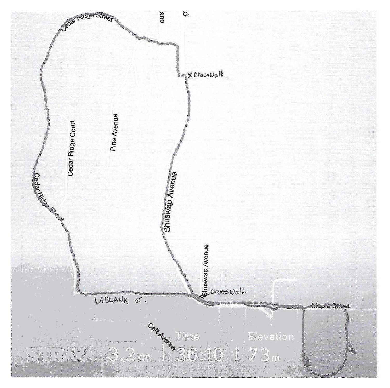 3km Race Route