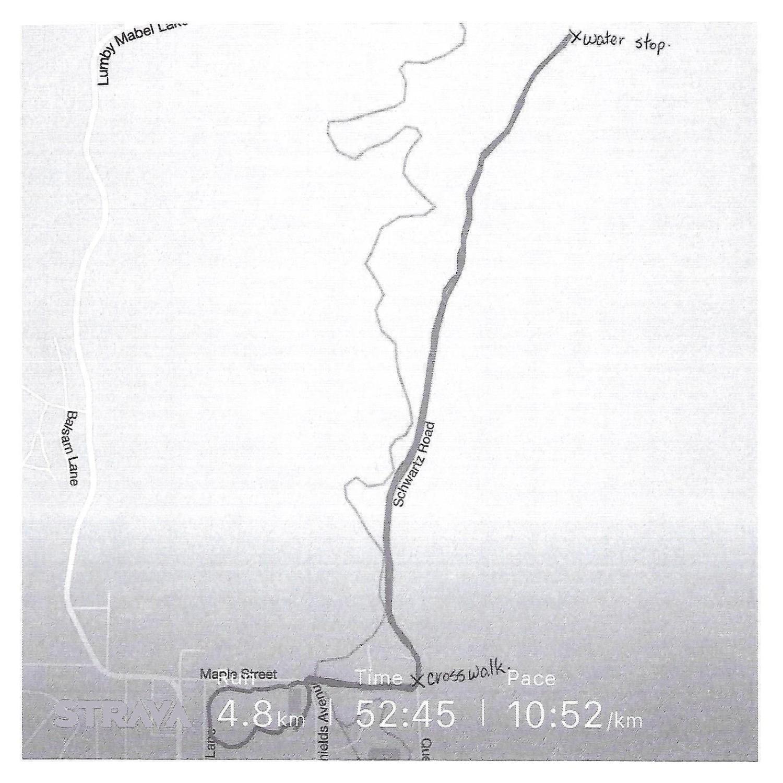 5km Race Route