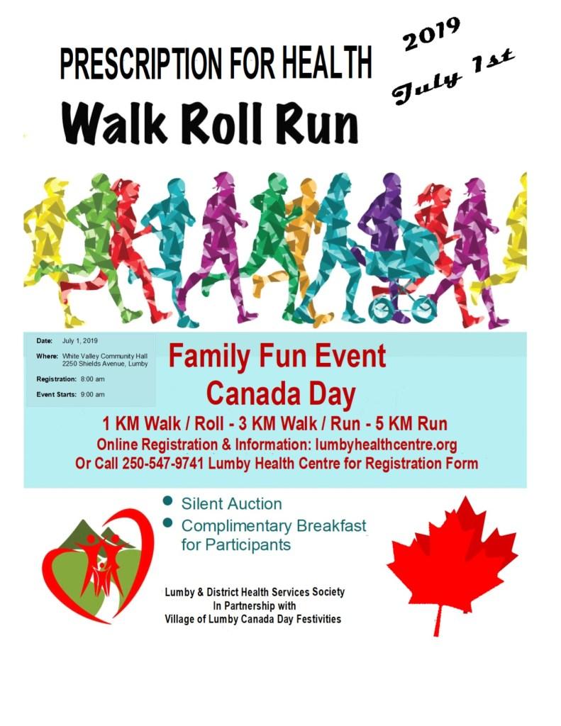 Prescription for Health Walk Roll Run