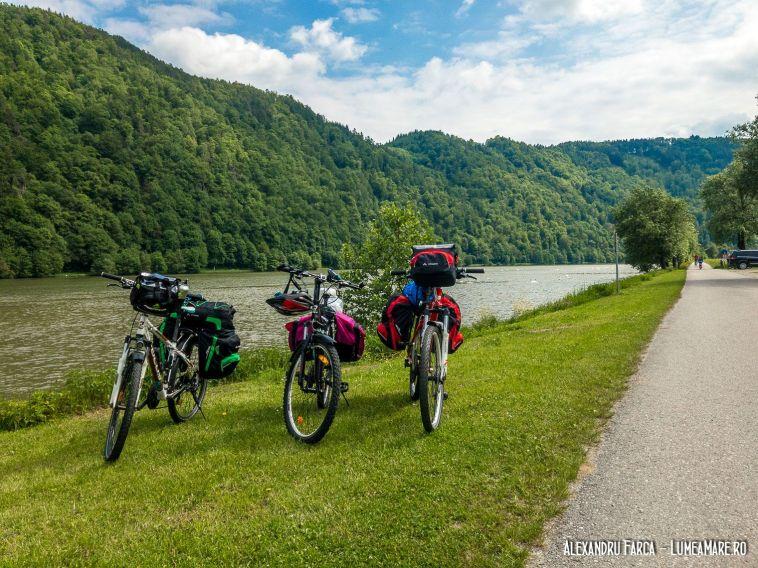 Pasau - Viena pe biciclete echipate de drum.
