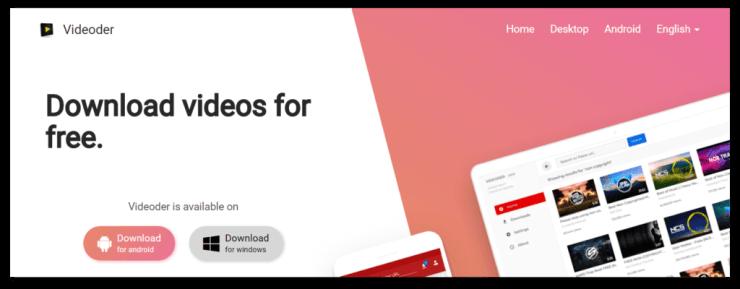 Videoder-Homepage