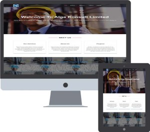 web design for alga konsult limited