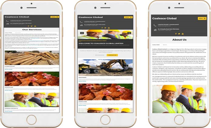 mobile-ready website design in Imo State, Nigeria
