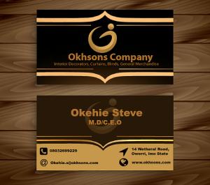 corporate branding business card design for Okhsons