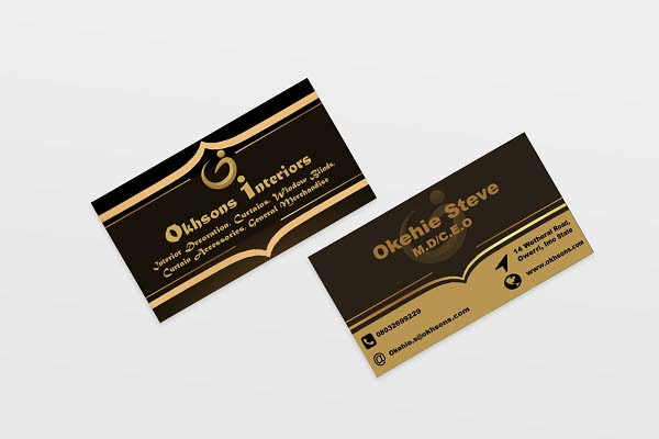Business Card and Corporate Identity Creation for Okhsons