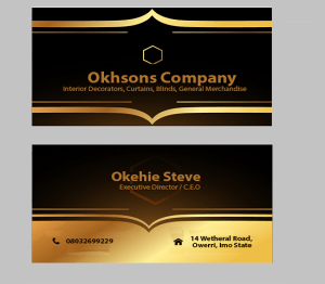 corporate branding for Okhsons, an interior decoration firm
