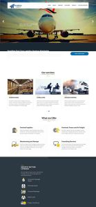 website design for parcelpress logistics