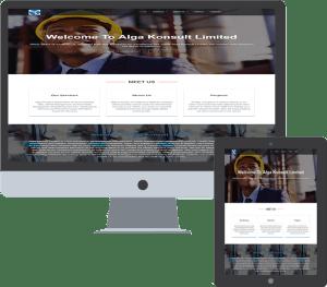 web design for alga konsult limited