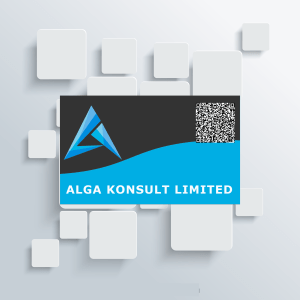 corporate branding project business card design for Alga Konsult limited