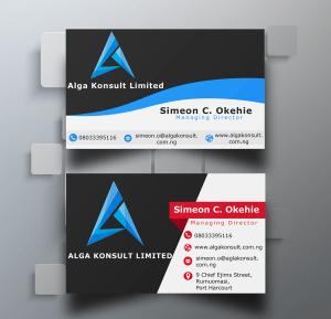 Business card design for Alga Konsult