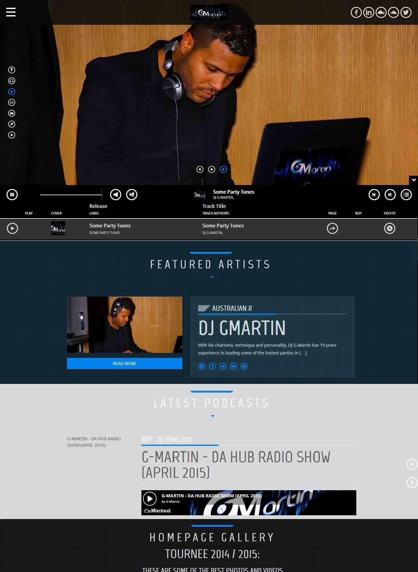 debsite design for DJ G-Martin by Lumena, Owerri Imo State web design and web development