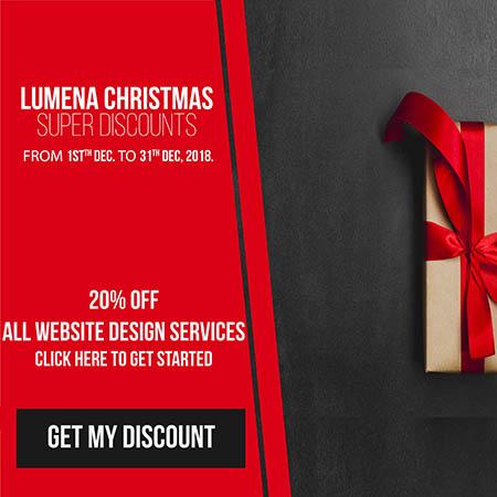 special web design agency chritstmas promo