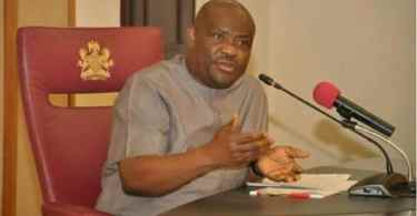 Governor Wike during an interview