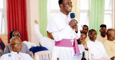 Photo of the auxiliary bishop of Owerri Archdiocese Most Rev Moses Chikwe