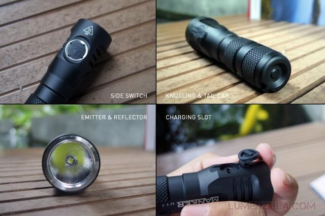 manker quinlan u11 flashlight body and part details