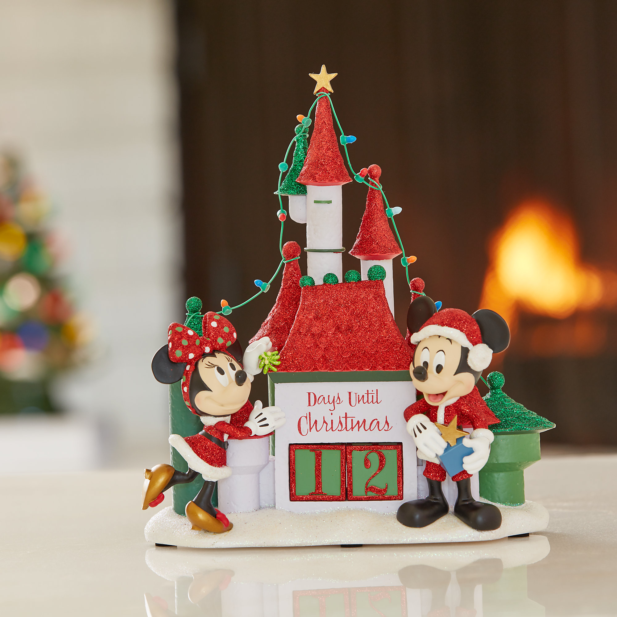 Santa Mickey and Minnie Mouse Holiday Countdown Castle