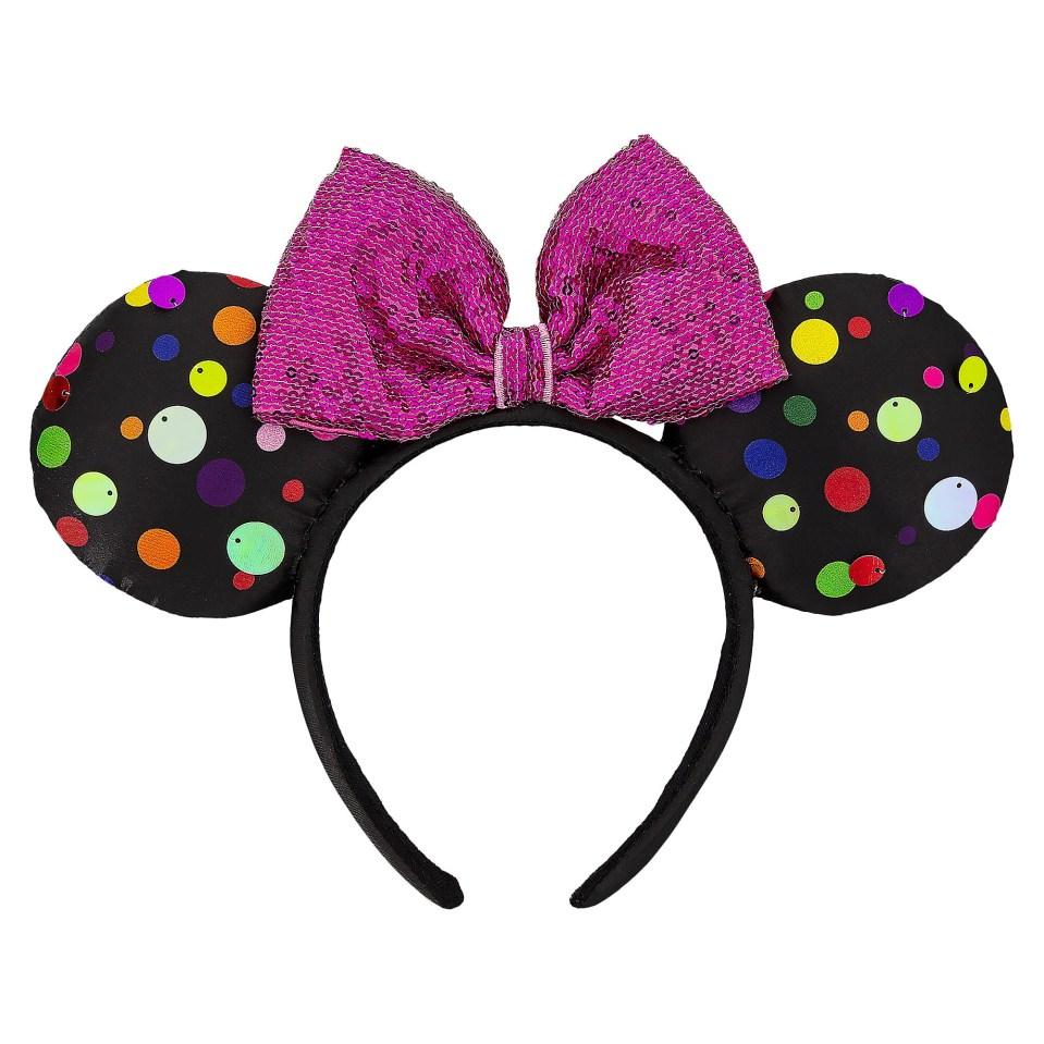 Product Image of Minnie Mouse Multi-Color Polka Dot Ear Headband # 1