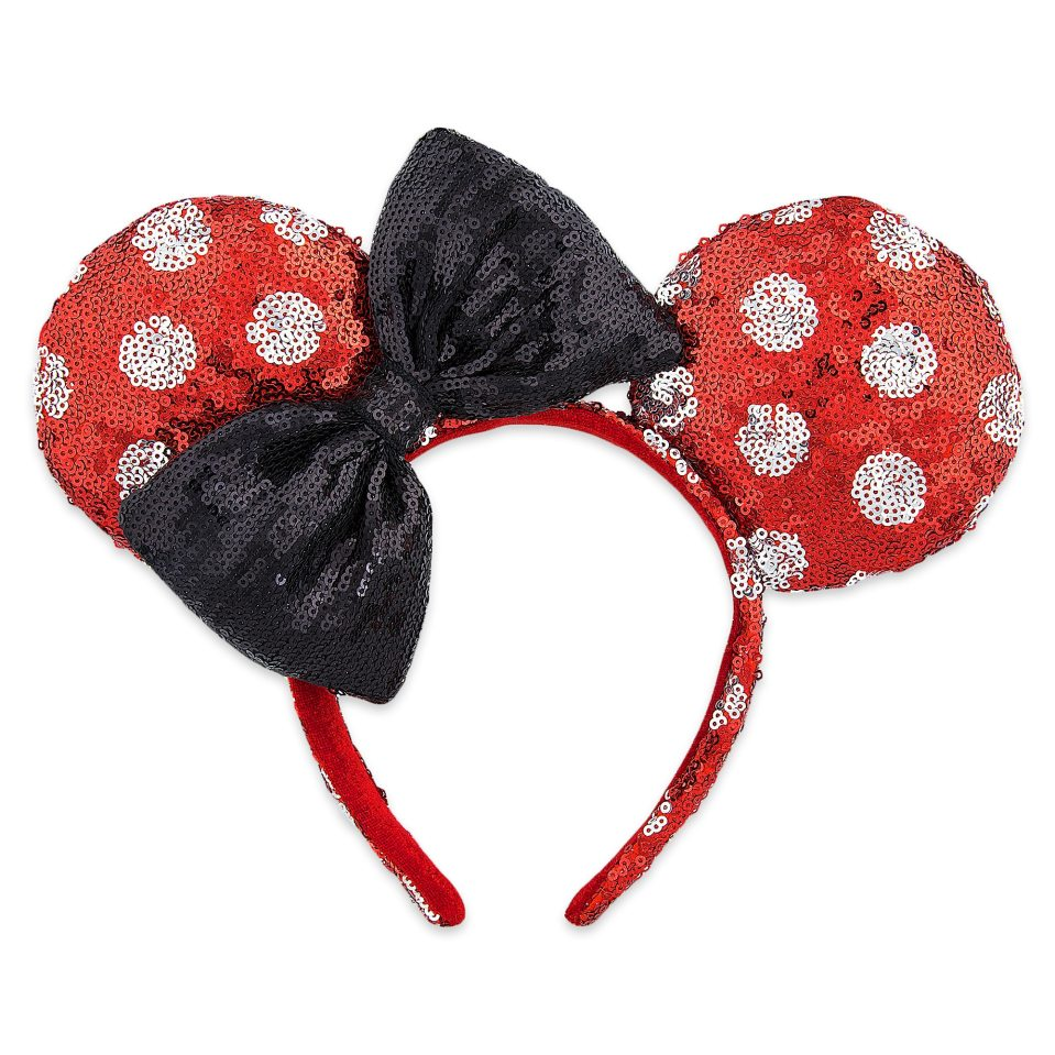 Product Image of Minnie Mouse Sequined Ears Headband for Adults - Polka Dot # 1