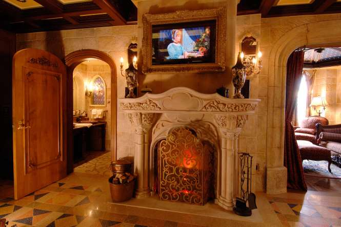 Centerpiece Of The Cinderella Castle Suite Is An Antique Limestone Fireplace 17th Century Gothi