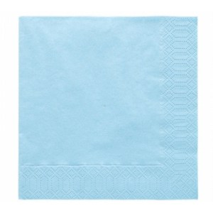 Lyseblå servietter