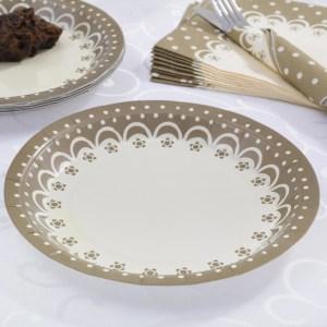 Elfenben guld tallerken