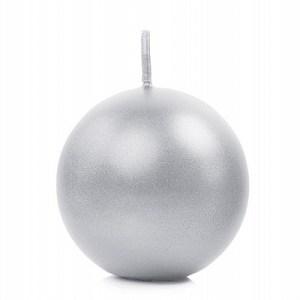 Sølvfarvet kuglelys