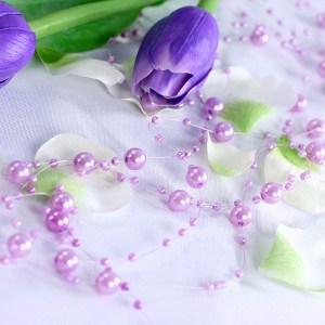 Perlekæder lys violet
