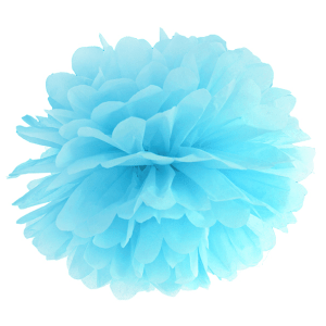 Sky blue pom pom