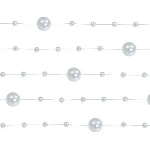 Sølvfarved perlekæder