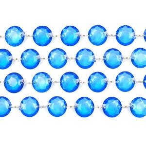 Blå dekorationskæde