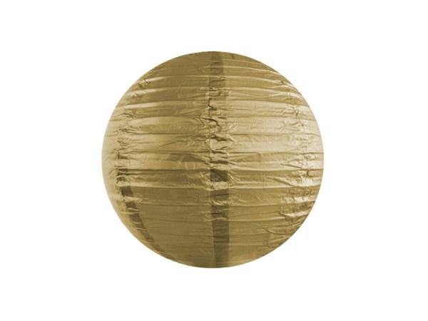 Guldfarvet rispapirlampe