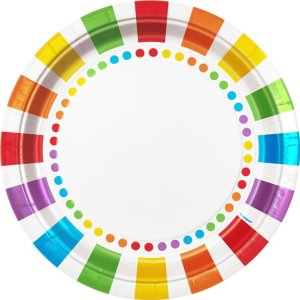Rainbow tallerkener