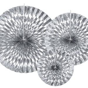 Sølvfarvede rosetter